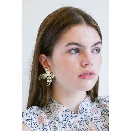 Faris Large Ladyday Earrings in Bronze