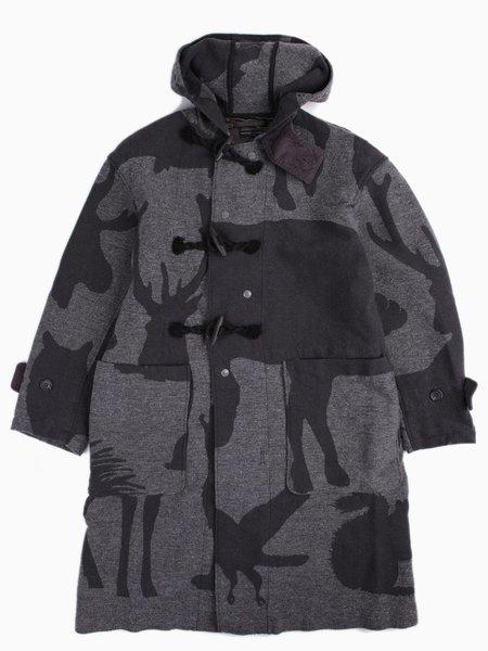 Duffle Coat Animal Wool Jacquard