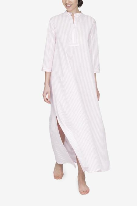 The Sleep Shirt Full Length Sleep Shirt - Bubblegum Stripe