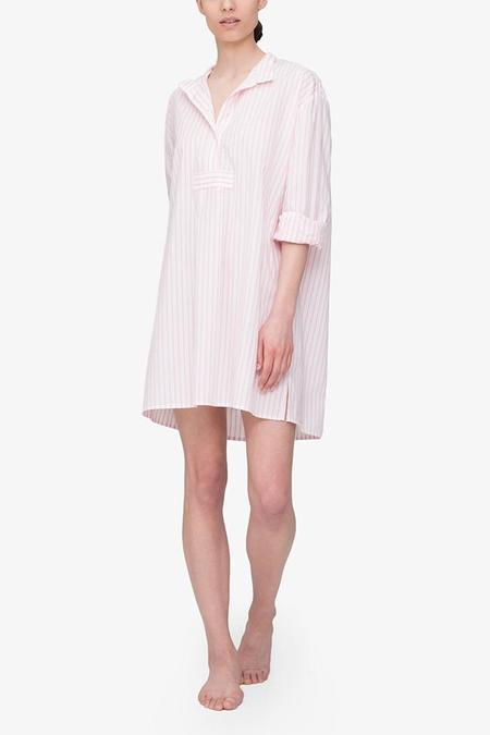 The Sleep Shirt Short Sleep Shirt - Bubblegum Stripe