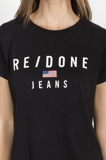 RE/DONE 90's Logo Tee - Black