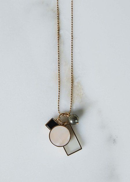 Ginette NY Ever Frost Charm Necklace