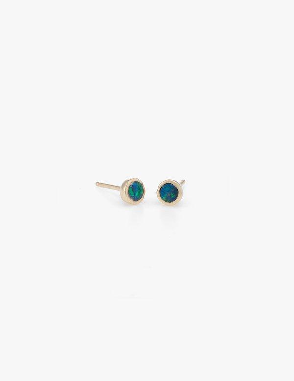 Kathryn Bentley Tiny Blue Opal Dot Studs