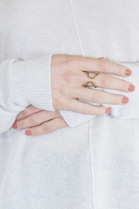 Soko Double Arch Brass Ring
