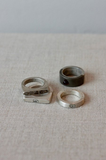 Parts of Four Sistema Flat Top Ring