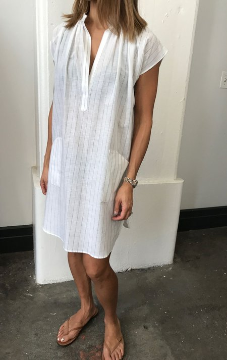 Two New York White Tunic With Stripe