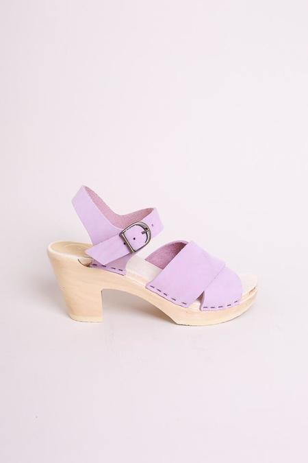No.6 Coco Cross Front Sandal in Violet on White Base