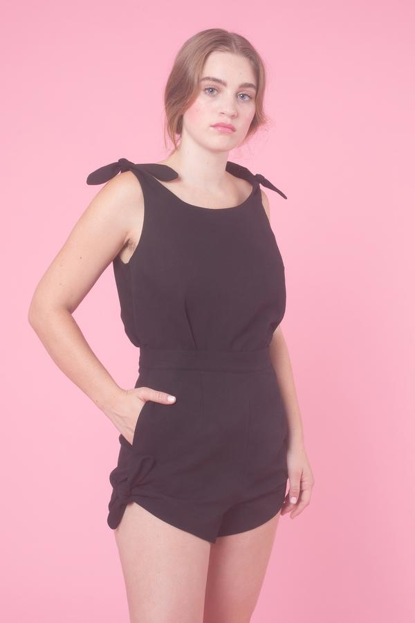 Samantha Pleet Piccolo Shorts in Black