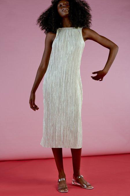 Wolcott : Takemoto Gloria Dress in Cream Bodre Knit