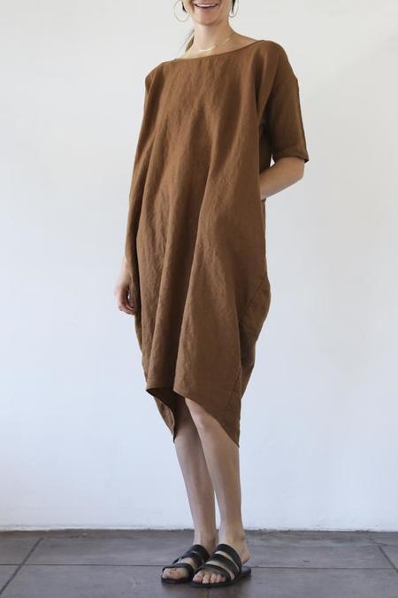 Rachel Craven Long Cocoon Dress - Bark Linen