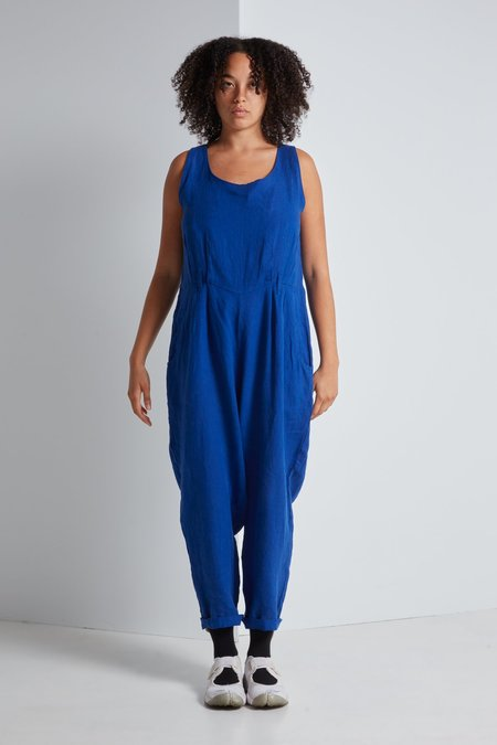 Black Crane Overall in Royal Blue
