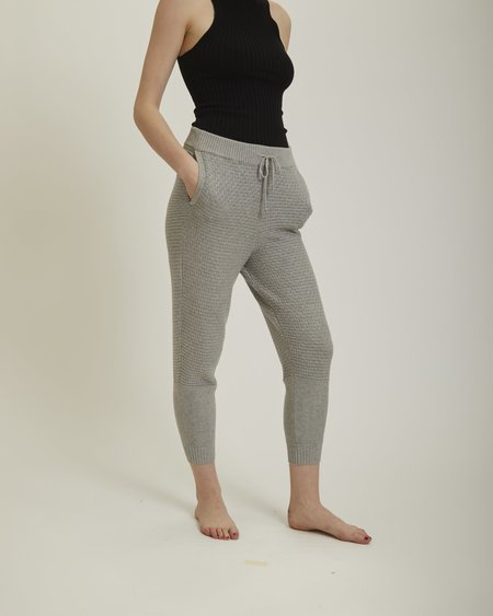 giu giu Brickstitch jogger pants - grey