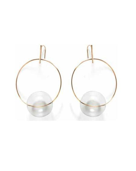 By Boe Glassy Hoops Earrings