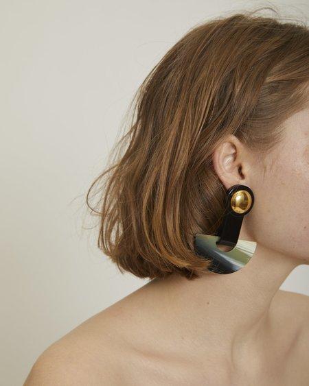 Rachel Comey Zora earrings in gold & black
