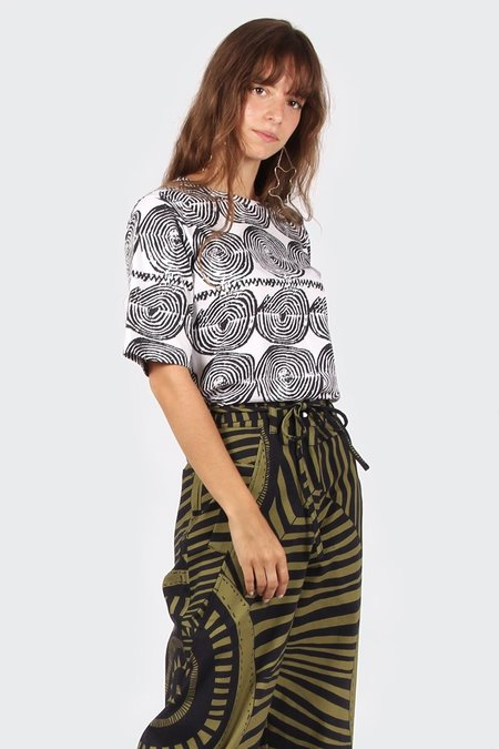VERNER X Lisa Waup T-Shirt - black/white