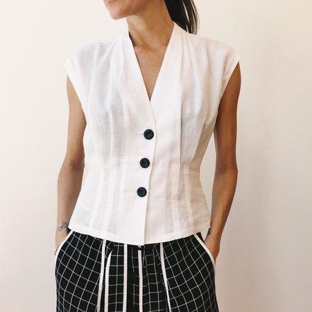 Colovos Sleeveless Seamed Shirt