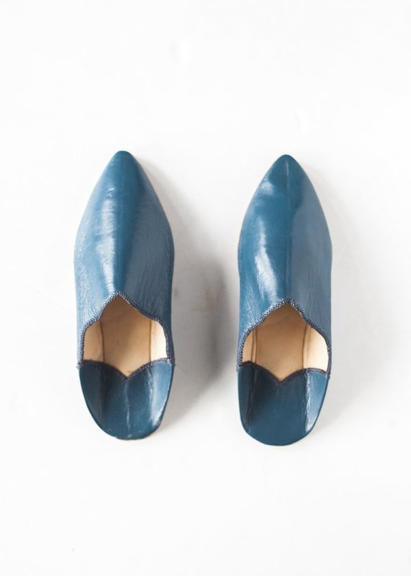 C+L Finds Indigo Babouche Slippers