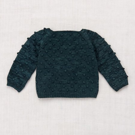 Unisex Kid's Misha & Puff Summer Popcorn Sweater - Spruce