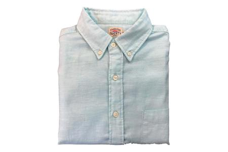 Faherty Oxford Ventura Shirt - Teal Heather