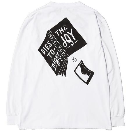 BY PARRA THE JOY INSIDE LONG SLEEVE T-SHIRT - WHITE