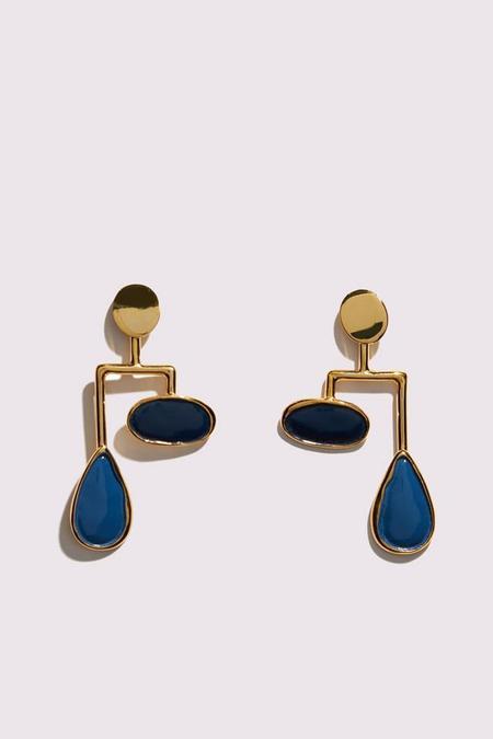 Lizzie Fortunato Drop Mobile Earrings in Midnight