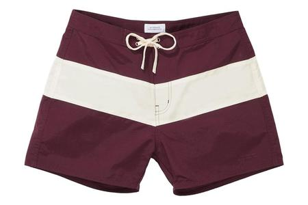 Saturdays NYC Grant Boardshort - Dark Mauve Ivory