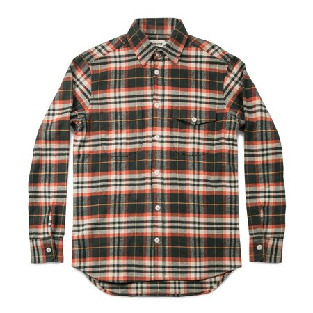 Taylor Stitch The Crater Shirt in Olive Plaid