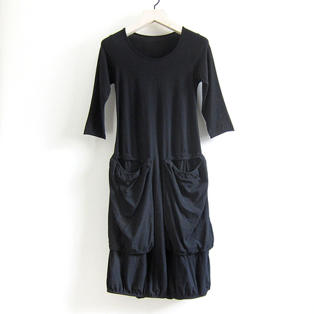 Rundholz Stretch Cotton Dress - Black