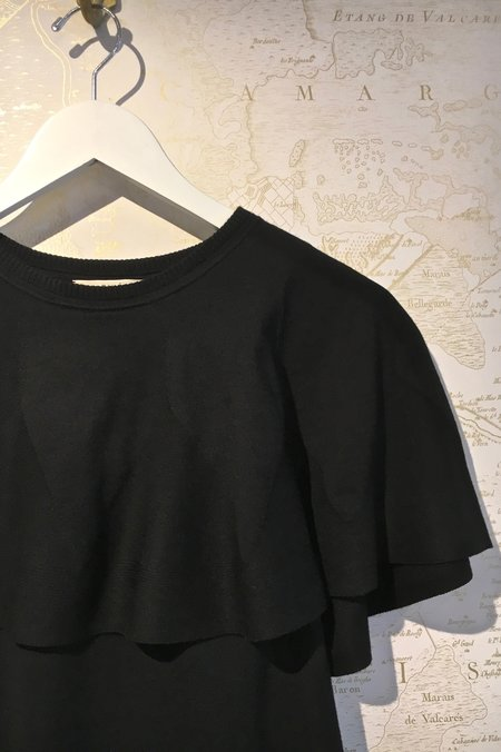 Rhié Short Sleeve Knit 'Charles' Ruffle Top
