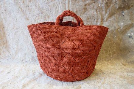 Sans-Arcidet Paris Kapity Bag Large - Red/Terra Cotta