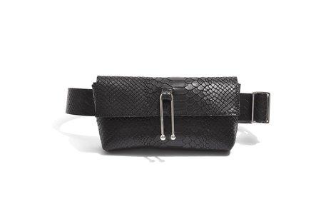 Sonya Lee Jess Belt Bag - Black Snake Embossed Leather