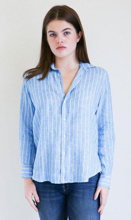 Frank & Eileen Barry Shirt in Blue Wide Stripe