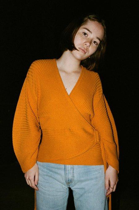 Sayaka Davis Cashcoule Knit in Burnt Orange