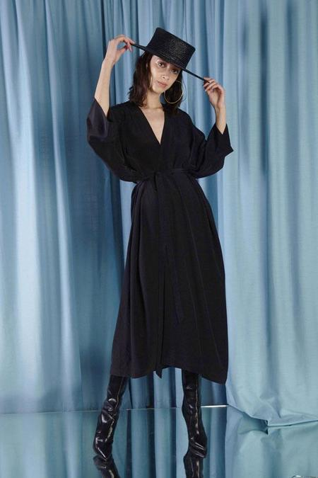 Miss Crabb Diamond Star Robe Black