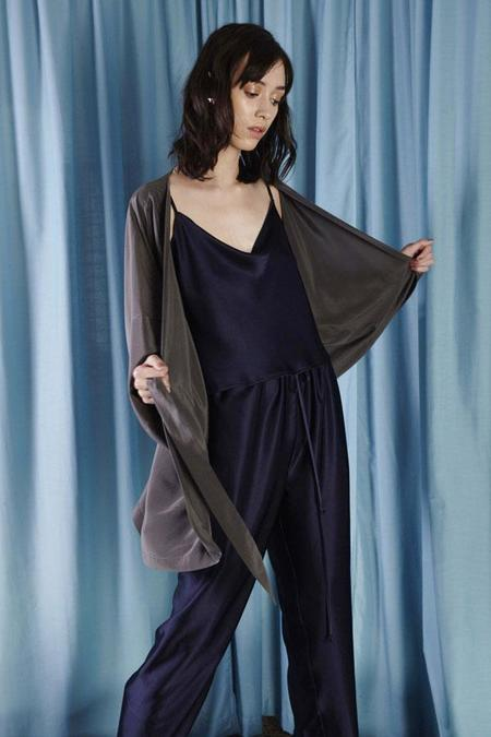 Miss Crabb Love Me Tender Robe - Slate
