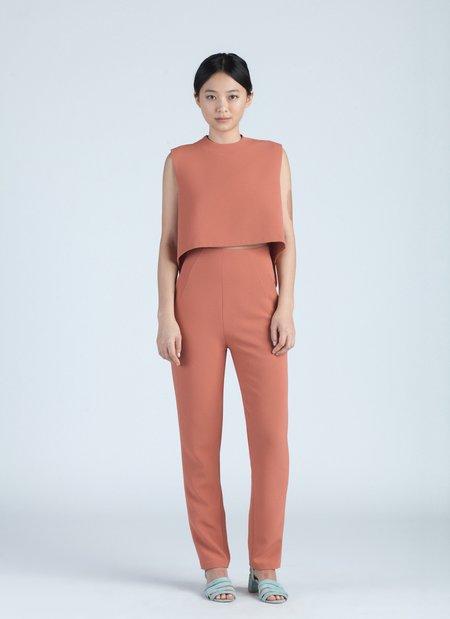 KAAREM Sam High-Waisted Pocket Pant - Coral