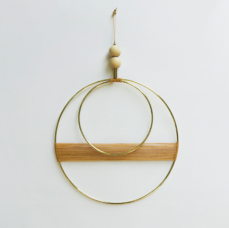 Attalie Dexter Double Circle Cantaloupe Wall Hanging