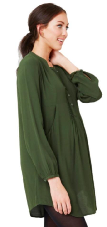 Ripe Maternity Robyn Pintuck Tunic Nursing Dress