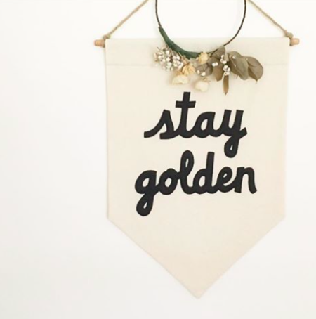 Secret Holiday Co. Stay Golden Exclusive Banner