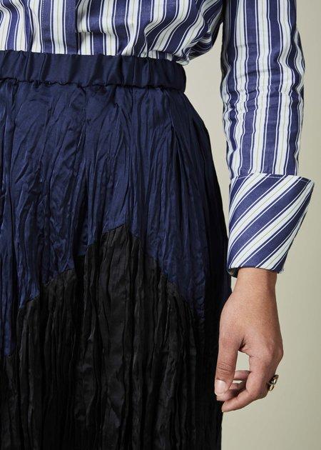 Yoshi Kondo Ingot Two-Tone Skirt - Navy/Black