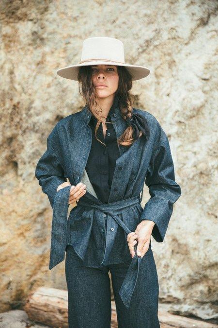 Ozma Kimono Sleeve Jacket - Premium Denim