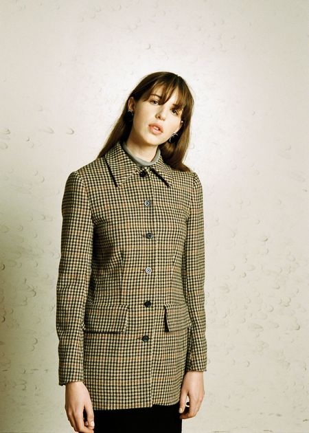 Penny Sage Seen Jacket - Brown Check