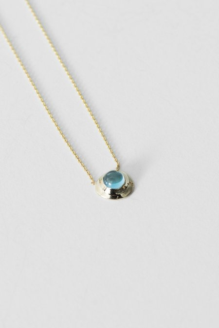 Quarry Elanor Necklace in 14k Gold Pendant/18k Gold Chain/Topaz