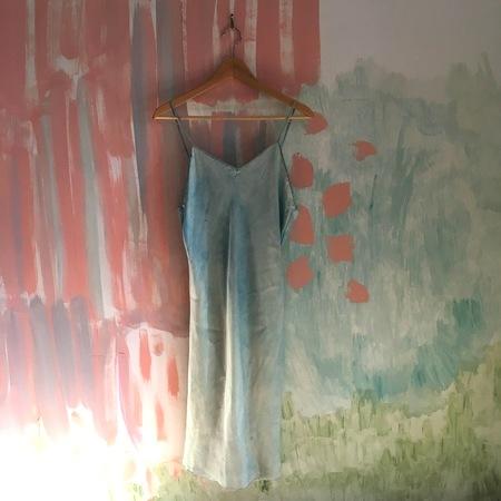 Audrey Louise Reynolds Indigo Blue Silk Cami Dress