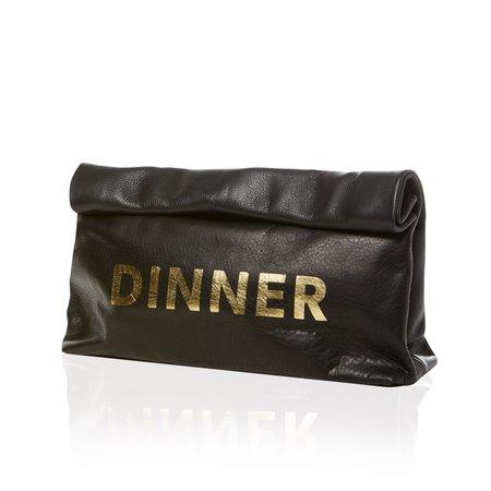 Marie Turnor THE DINNER - BLACK, GOLD PRINT
