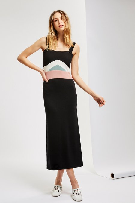 Mila Zovko Luna Dress in Black/Cream/Rose
