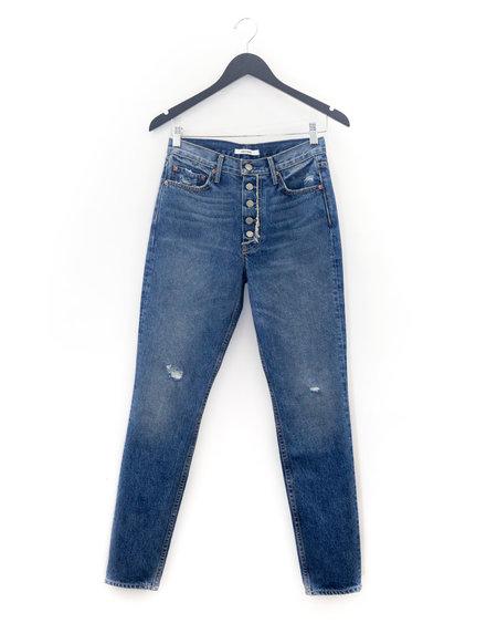 GRLFRND Karolina High-Rise Skinny Jean - MOTHER FRAY