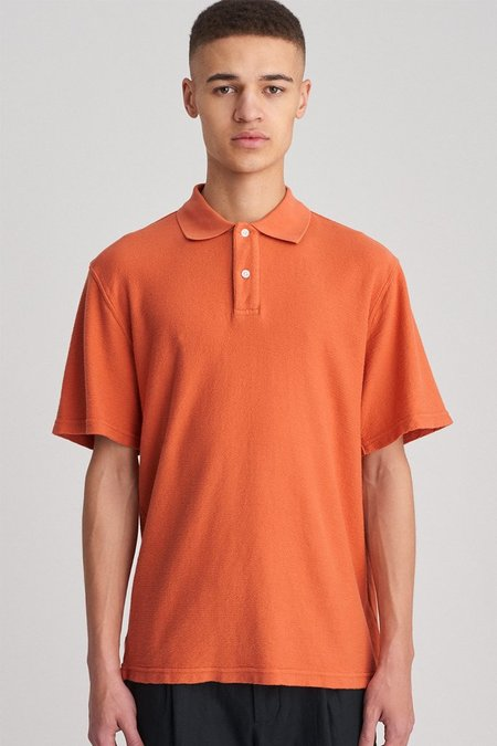 Saturdays Surf NYC Jake Loops Polo - Copper Rose