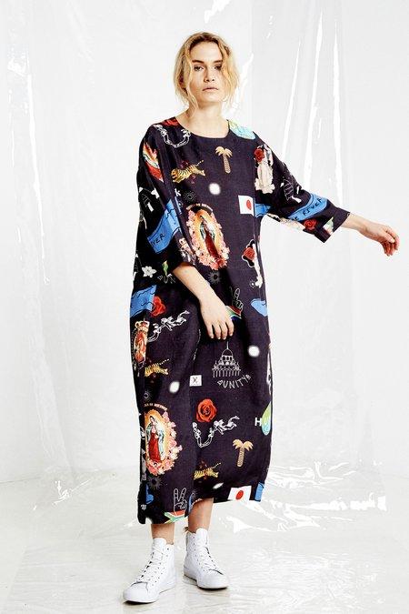 SALASAI New Life Dress - Human Print