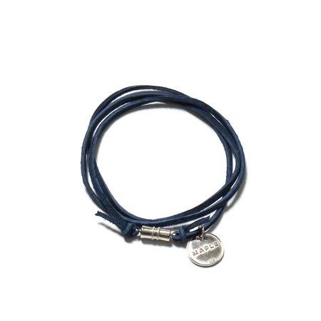 MAPLE Suede Multi Wrap Bracelet - Navy